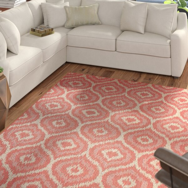 Aker Red Area Rug by Mercury Row