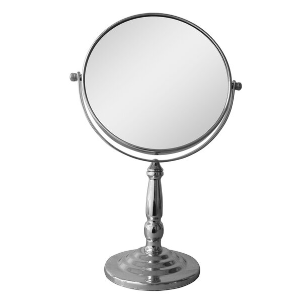 Freestanding Magnifying Makeup Mirror by Symple Stuff