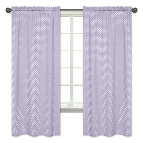 Sloane Polka Dot Semi-Opaque Rod Pocket Curtain Panels (Set of 2) by Sweet Jojo Designs
