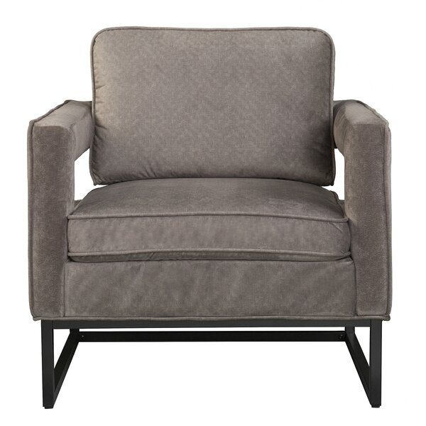 Ginny Velvet Cut-out Armchair by Brayden Studio