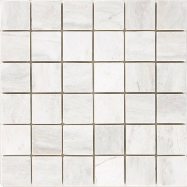 Honed 2 x 2 Mosaic Tile in Bianco Dolomite by Ephesus Stones