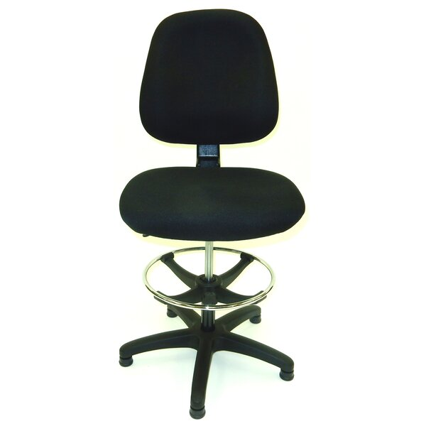 Industrial 50.5 Upholstered Seat Drafting Chair by Symple Stuff