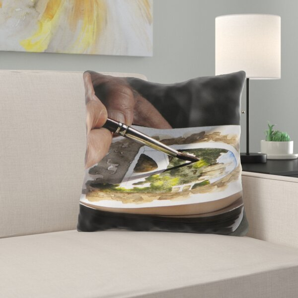 Hallee Watercolor Throw Pillow