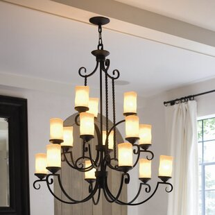 Best Deals Jamar 15-Light Shaded Chandelier By Darby Home Co