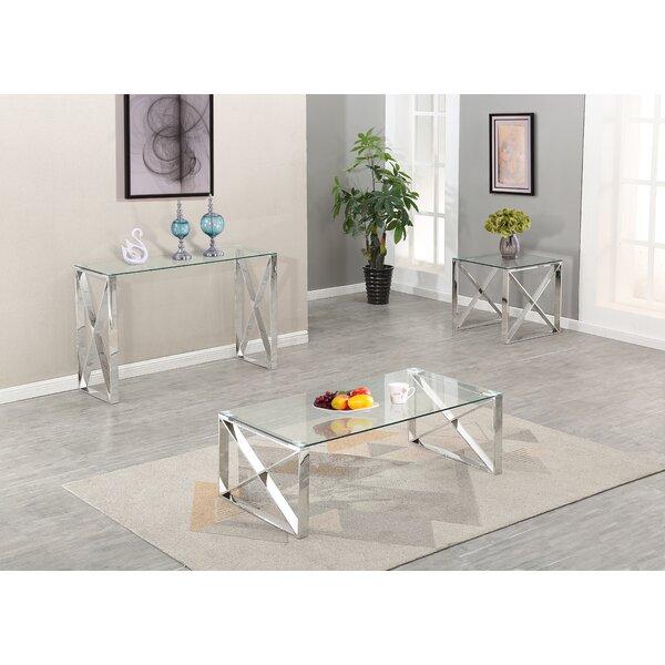Javon 3 Piece Coffee Table Set