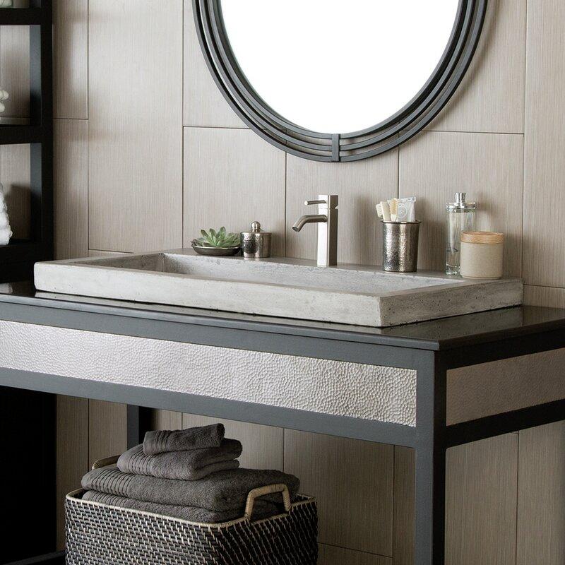 Native Trails Trough Stone Rectangular Drop In Bathroom Sink Reviews Wayfair