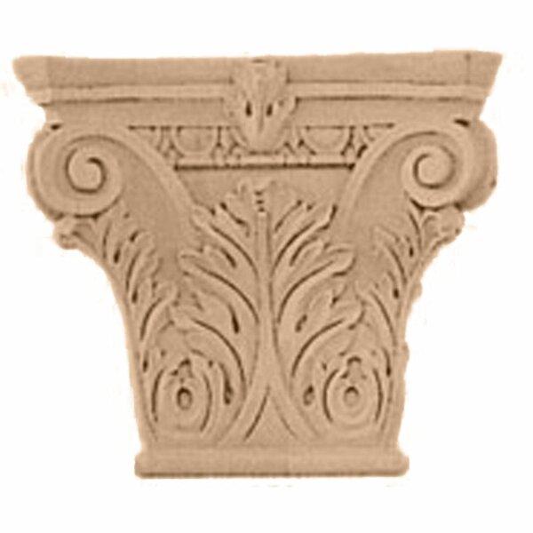 Floral Roman Corinthian 5 5/8H x 6 1/4W x 2 1/4D Small Capital by Ekena Millwork
