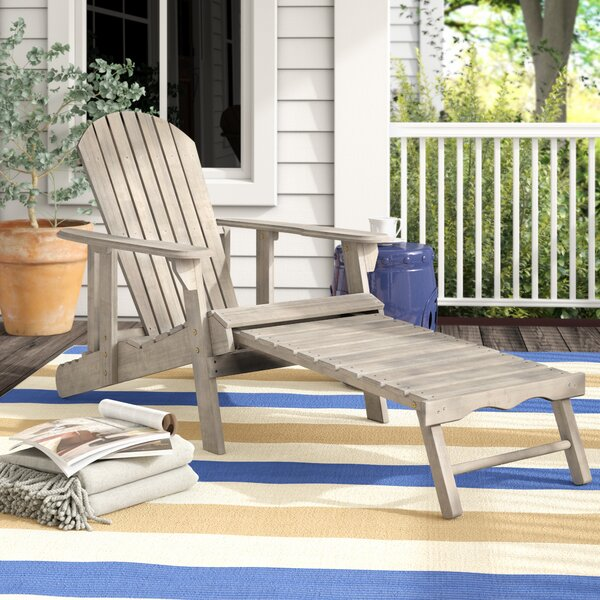 Kairi Solid Wood Adirondack Chair with Ottoman (Set of 2) by Breakwater Bay