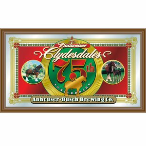 Budweiser Clydesdales 75th Anniversary Framed Vintage Advertisement by Trademark Global