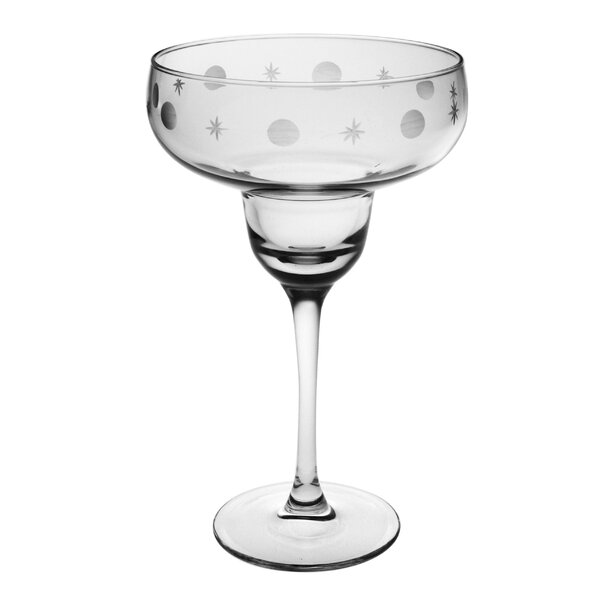 Juanita Hand-Cut Margarita Glass (Set of 4) by Susquehanna Glass