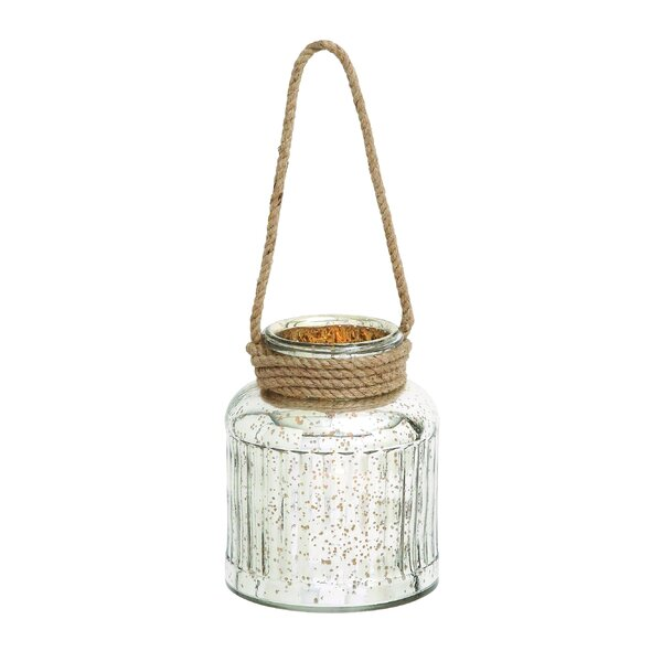 Classy Attractive Glass Rope Lantern by Woodland Imports