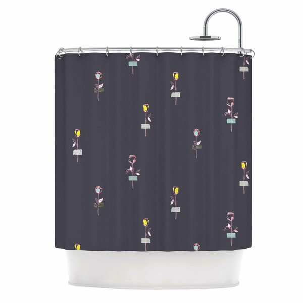 Rosewall by MaJoBV Floral Shower Curtain by East Urban Home
