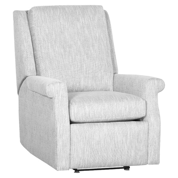 Greek Key Leather Manual Recliner by Fairfield Chair Fairfield Chair