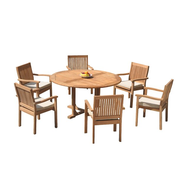 Maston 7 Piece Teak Dining Set by Rosecliff Heights