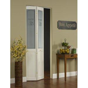 Pantry Pine Wood Unfinished Bi-Fold Interior Door