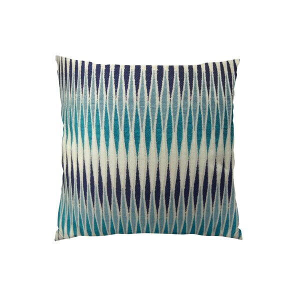 Thames River Cobalt Handmade Throw Pillow by Plutus Brands
