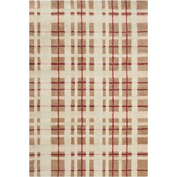 Willa Hand Tufted Wool Brown/Beige Area Rug by Corrigan Studio