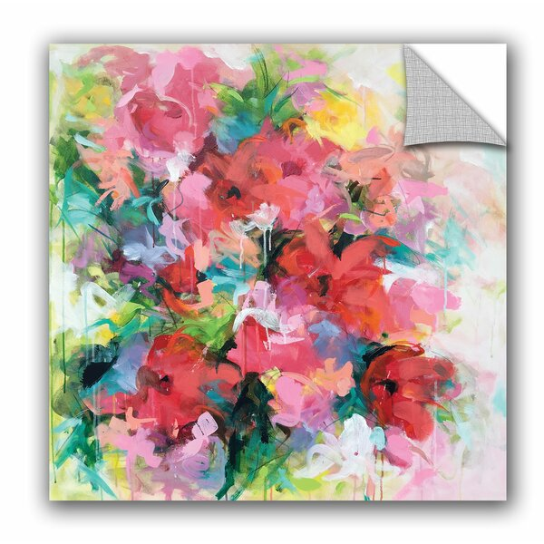 Gillen Red Flowers Wall Mural by House of Hampton