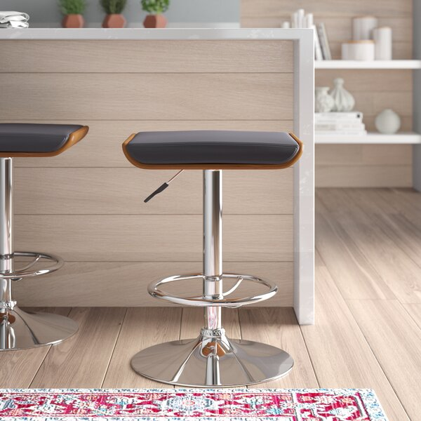 Canchola Adjustable Height Swivel Bar Stool by Wade Logan