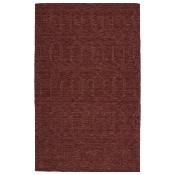Dobson Handmade Cinnamon Area Rug by Ebern Designs