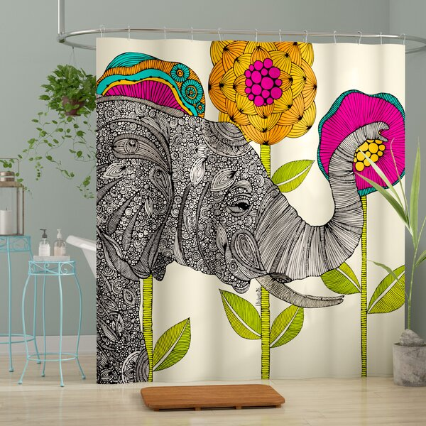 Mellott Aaron Shower Curtain by Bungalow Rose