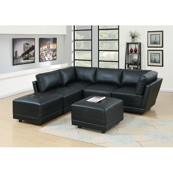 Best Williford Left Hand Facing Modular Sectional With Ottoman