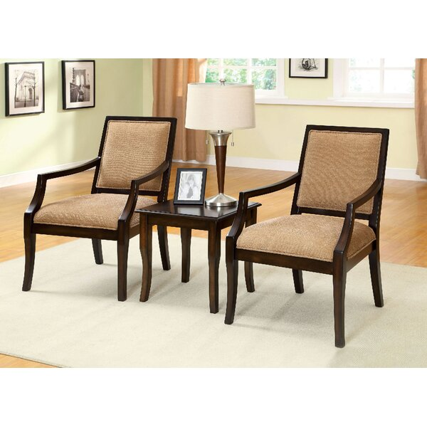 Castrejon 3 Piece Solid Wood Dining Set by Fleur De Lis Living