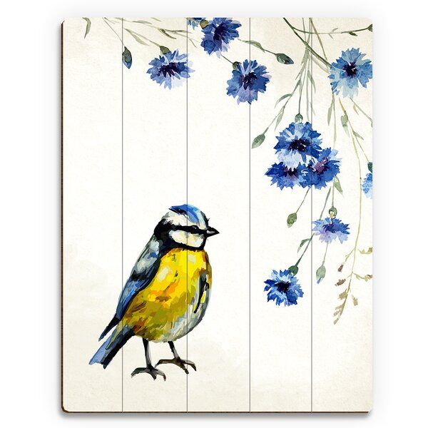 Cascading Flowers Painting Print on Plaque by Click Wall Art