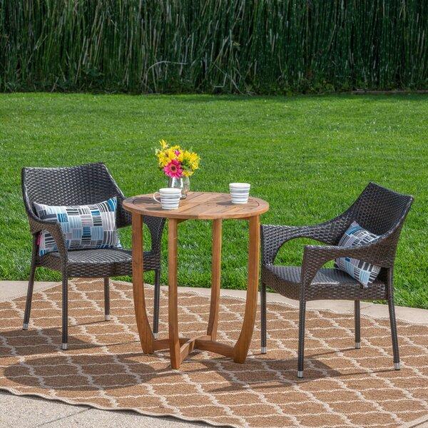 Summersville Outdoor 3 Piece Bistro Set by Ebern Designs