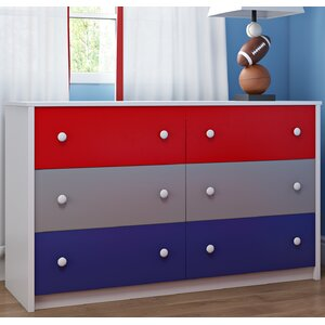 Nola 6 Drawer Double Dresser
