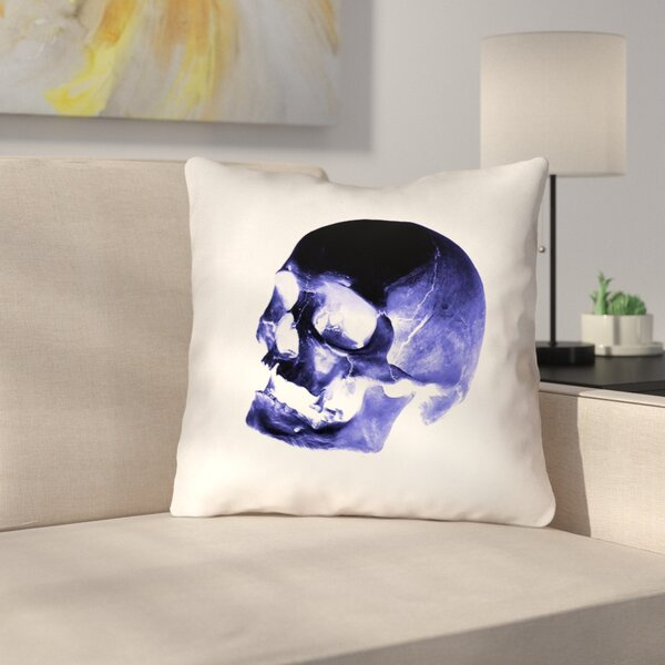 Skull Outdoor Throw Pillow