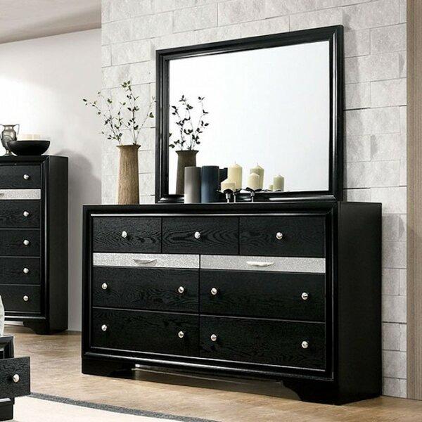 Matus 9 Drawer Dresser with Mirror by Rosdorf Park