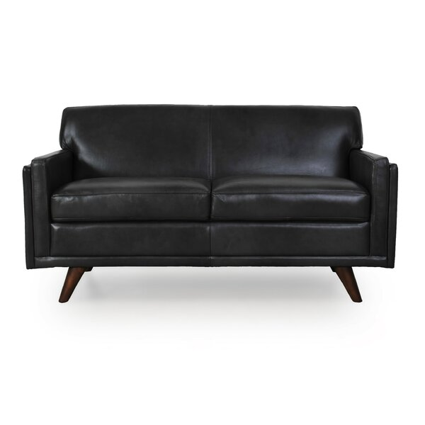 Top 2018 Brand Ari Genuine Leather Loveseat by Corrigan Studio by Corrigan Studio