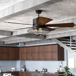 Industrial style ceiling fans youll love wayfair 56 roberts 5 blade ceiling fan with remote control aloadofball Images