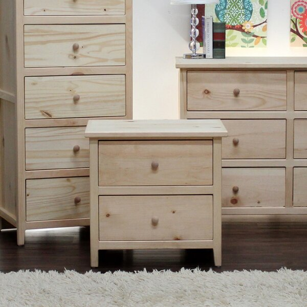 Zanna 2 Drawer Nightstand by Highland Dunes