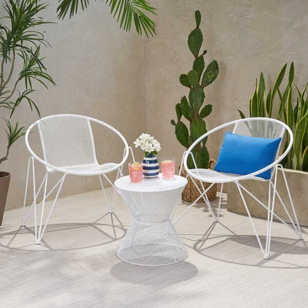 Yother Modern Outdoor 3 Piece Seating Group by Ebern Designs