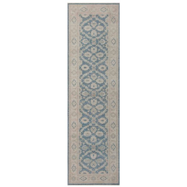 Ferehan Hand-Knotted Light Gray/Blue Area Rug by Pasargad