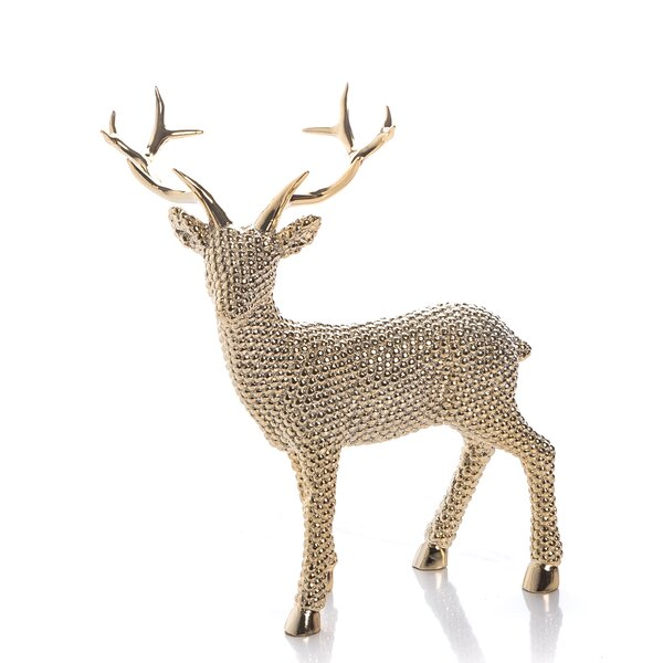 Desmond Large Resin Shiny Reindeer Left Facing by The Holiday Aisle