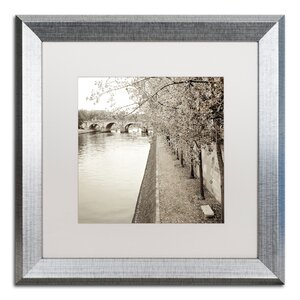 'Promenade Seine II' Framed Photographic Print by Trademark Fine Art
