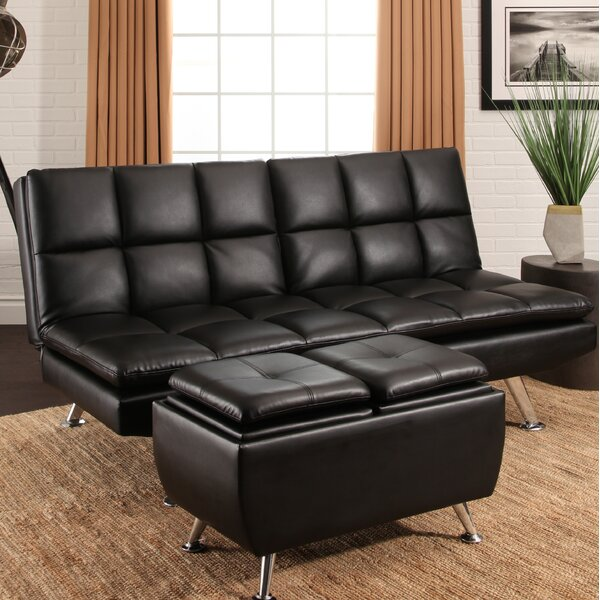 Rolston Bonded Leather 2 Piece Convertible Sofa Set by Orren Ellis