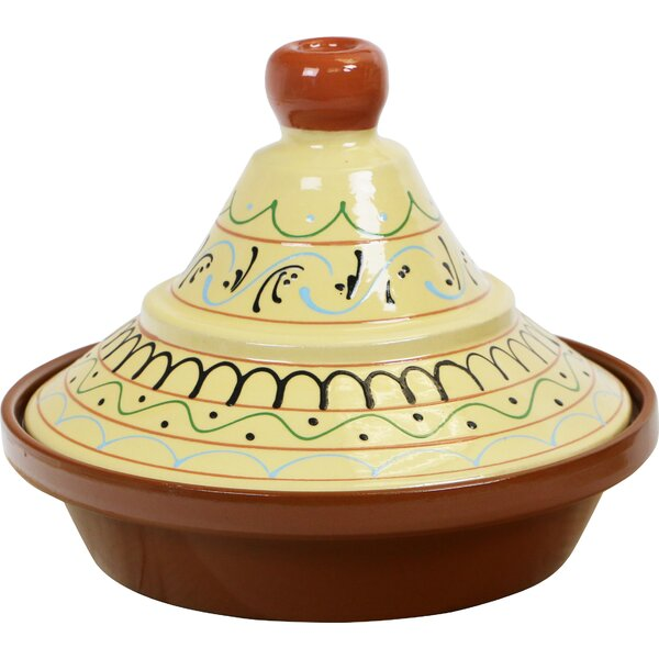 Eurita 2 Qt. Seville Hand Painted Terracotta Round Tagine by Reston Lloyd