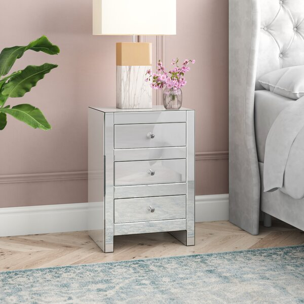Hessle 3 Drawer Nightstand by House of Hampton House of Hampton