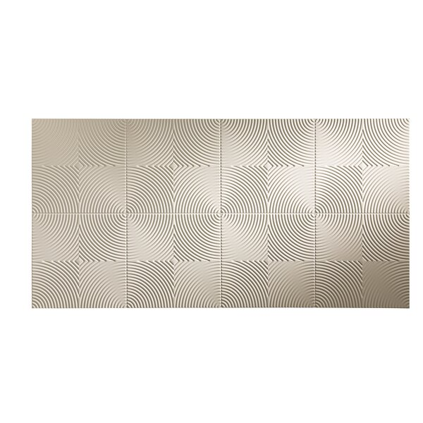 Echo 48 x 96 PVC Backsplash Panel in Almond by Fasade