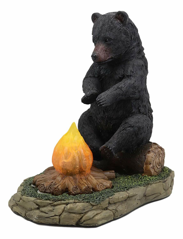 Large Black Bear Sitting Figurine A Rustic Home//Cabin Decor