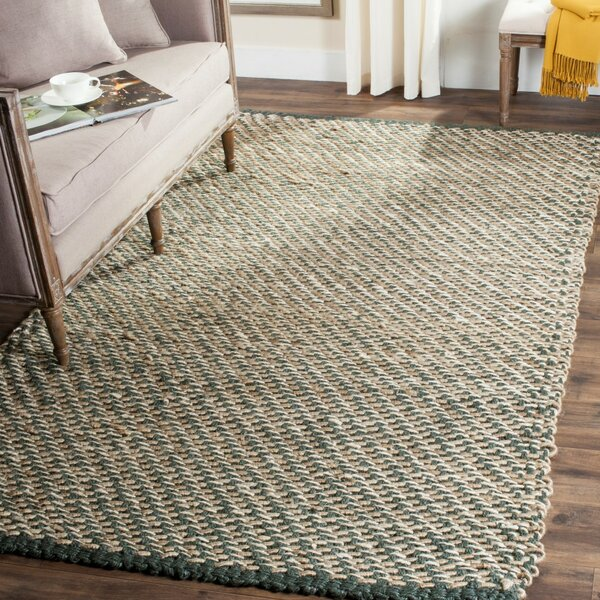 Richmond Hand-Woven Blue/Natural Indoor Area Rug by Beachcrest Home