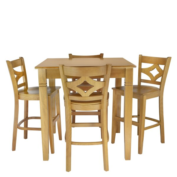 Mignone 5 Piece Pub Table Set by Bloomsbury Market