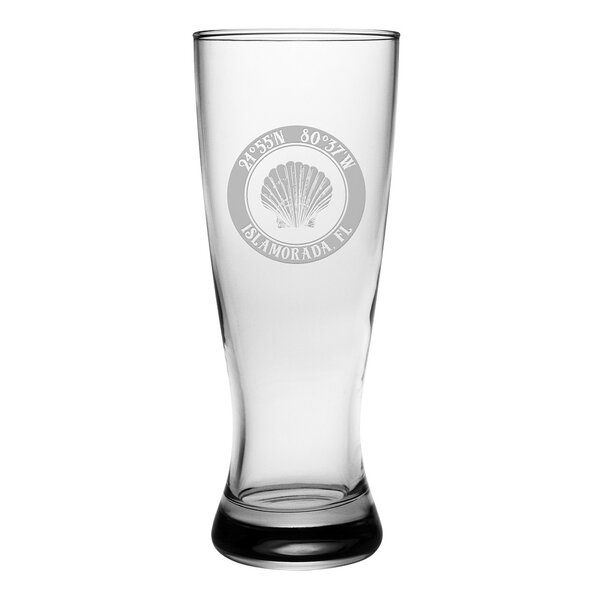 Galvez Seashell Grand Pilsner 20 oz. Glass Pint Glass (Set of 4) by Longshore Tides
