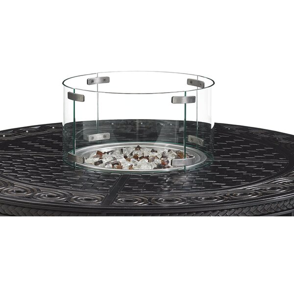 Alfresco Living Tempered Round Glass Flame Guard Tabletop Fireplace by Tommy Bahama Outdoor