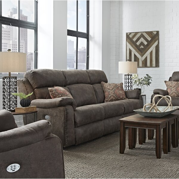 Premium Quality Ribbon Double Reclining Sofa by Southern Motion by Southern Motion