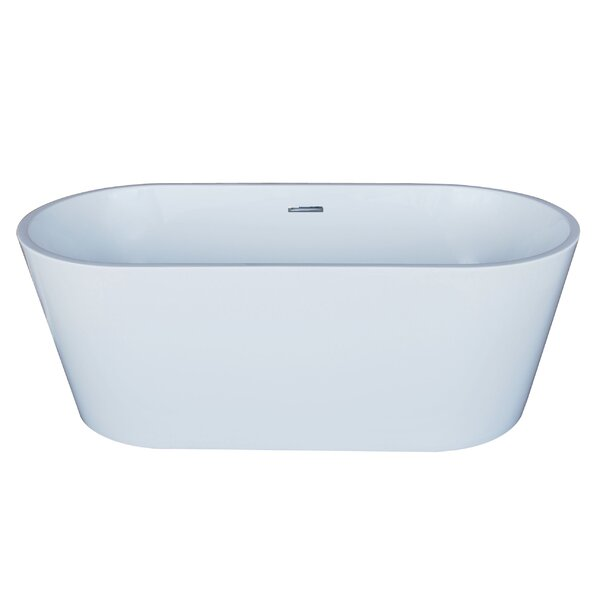 Elsa 66.88 x 31.5 Oval Acrylic Freestanding Bathtub by Spa Escapes